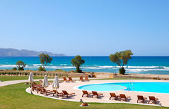för pölhav för strand härlig turkos för simning royaltyfri foto