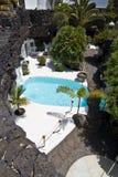 för pölrock för område vulkanisk naturlig simning fotografering för bildbyråer