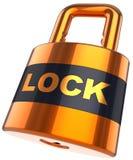 för padlockres för begrepp hög säkerhet Arkivfoton