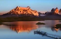för painepark för del nationella torres för patagonia Royaltyfria Bilder