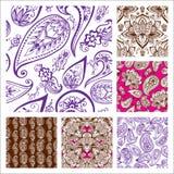 För paisley för modell för dekorativ dekorativ indisk design för klotter för blomma för hennatatueringmehndi sömlös smyckning ara royaltyfri illustrationer