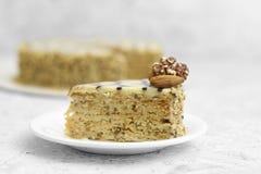 För pajbakgrund för kaka söt apelsin Royaltyfria Foton