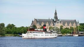 för panoramabild för stad gammal stockholm sweden town arkivfilmer