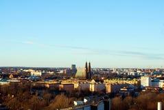 för panoramabild för stad gammal stockholm sweden town arkivfoto