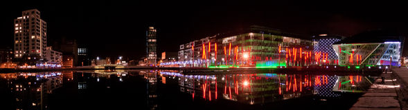 för panoramafyrkant för kanal storslagen theatre Royaltyfri Fotografi