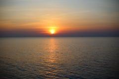 för panoramahav för liggande 3d solnedgång Royaltyfria Bilder