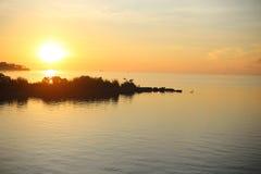 för panoramahav för liggande 3d solnedgång Royaltyfria Foton