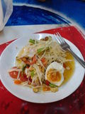 För Papayasomtampapaya för sallad för kikem papaya enkelt arkivfoton