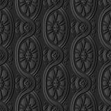för papperskonst för mörker 3D blomma för arg vinranka för kurva för spiral för Oval vektor illustrationer
