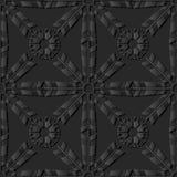 för papperskonst för mörker 3D blomma för kors för fjäder för pil stock illustrationer