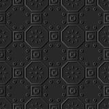 för papperskonst för mörker 3D blomma för ram för runda för fyrkant för polygon royaltyfri illustrationer