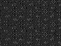 för papperskonst för mörker 3D blomma för vinranka för ram för blad för stam för kors för kurva stock illustrationer