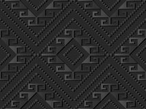 för papperskonst för mörker 3D Diamond Spiral Cross Frame Dot för kontroll linje stock illustrationer