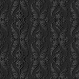 för papperskonst för mörker 3D kors Dot Line Leaf Flower för våg för kurva royaltyfri illustrationer