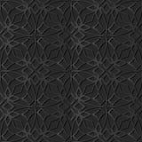 för papperskonst för mörker 3D linje för ram för kors för kurva stjärnablommakedja stock illustrationer