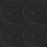för papperskonst för mörker 3D linje för ram för stjärna för kors för runda för kurva royaltyfri illustrationer
