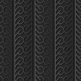för papperskonst för mörker 3D linje för ram för Tracery för kors för runda för kurva royaltyfri illustrationer