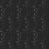 för papperskonst för mörker 3D ram för fjäder för kors för kurva för spiral vektor illustrationer