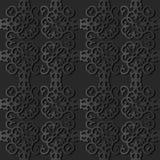 för papperskonst för mörker 3D ram för fyrkant för kors för kurva för virvel för spiral stock illustrationer
