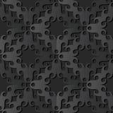 för papperskonst för mörker 3D ram för hjärta för crosscheck för spiral för kurva för runda stock illustrationer