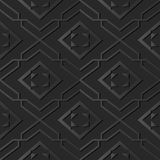 för papperskonst för mörker 3D ram för kors för spiral för kontroll för geometri för stjärna royaltyfri illustrationer