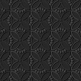 för papperskonst för mörker 3D ram för kronblad för blomma för kors för kurva för runda stock illustrationer