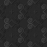för papperskonst för mörker 3D ram för triangel för virvel för kurva för spiral för runda vektor illustrationer