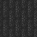 för papperskonst för mörker 3D ram för vapen för kors för kurva Retro royaltyfri illustrationer