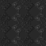 för papperskonst för mörker 3D vapen för blomma för ram för kors för kontroll för kurva för spiral royaltyfri illustrationer