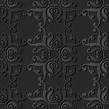 för papperskonst för mörker 3D vapen för ram för kors för kurva för spiral för fyrkant för kurva vektor illustrationer