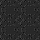 för papperskonst för mörker 3D vinranka för kedja för ram för kors för kurva för spiral royaltyfri illustrationer