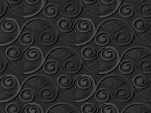 för papperskonst för mörker 3D vinranka för ram för blad för fan för virvel för spiral för kurva vektor illustrationer