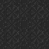 för papperskonst för mörker 3D vinranka för ram för kors för kurva för spiral för aboriginer stock illustrationer