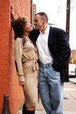 för par romantiker utomhus Royaltyfria Bilder