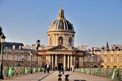 för paris för mazarine för konstbibliothdes que pont Arkivbilder