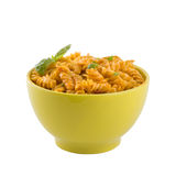 för pastasås för basilika ny isolerad tomat Arkivfoto