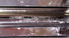 För pastatillverkare för rostfritt stål ny maskin för rulle för spagettinudelFettuccine lager videofilmer
