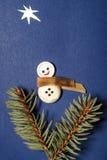 För patchworkhälsning för glad jul kort Fotografering för Bildbyråer