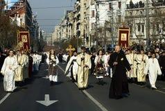 för patriarkpavle för 2 begravning serb Royaltyfri Bild