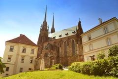 för paul peter för brno domkyrka tjeckisk st republik Fotografering för Bildbyråer