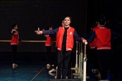 För Pekingdans för repetition som årlig akademi graderar för barn` s för prov den utstående utställningen Jiangxi för prestation  Arkivbilder