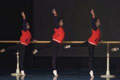 För Pekingdans för repetition som årlig akademi graderar för barn` s för prov den utstående utställningen Jiangxi för prestation  Arkivbild
