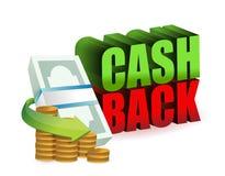 För pengartecken för kassa tillbaka design för illustration Fotografering för Bildbyråer