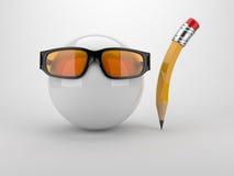 för pennsphere för begrepp idérik glass häxa Royaltyfria Bilder