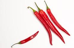 för pepparstapel för chili varm red Arkivfoton