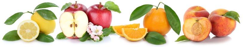 För persikaäpplen för äpplet bär frukt ny frukt för orange persikor för apelsiner in Royaltyfri Foto