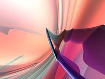 för persikapinken för bakgrund 3d framför den blåa purplen Arkivfoton