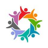 För personergrupp för samkväm 8 logo för parti royaltyfri illustrationer