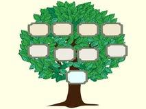 För personvektor för stamträd ett bakgrund royaltyfri illustrationer
