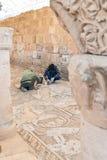 för petra-återställande för byzantine kyrkliga arbeten fotografering för bildbyråer